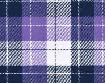 Snuggle Flannel Prints - Harper Plaid Purple  - 33 inches