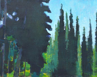 McCall Idaho Landscape Painting Forest