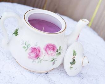 Rose Teapot Candle!