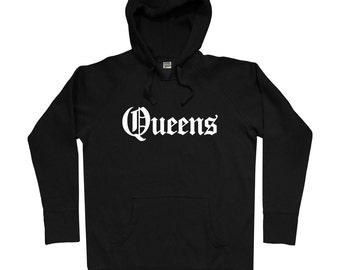 Queens Gothic NYC Hoodie - Men S M L XL 2x 3x - Queens Hoody, Sweatshirt, NYC, New York City - 4 Colors
