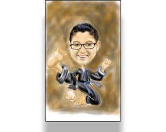 Karate kid, Print, decor, wall art