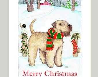 Soft Coated Wheaten Terrier Christmas Cards Box of 16 Cards & Envelopes