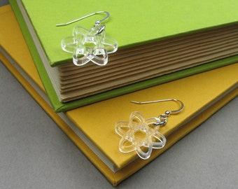 Atom Earrings - Science Jewelry - Lightweight Clear Acrylic Earrings
