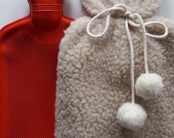 Hot water bottle cover  | Hot water bottle | wool bottle | wool cover | bed warmer |