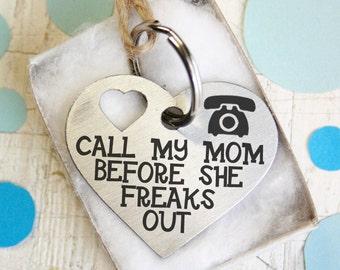 deux-côtés personnalisés coeur Dog Tag - cadeau - personnalisé Pet ID Tag - Tags de nom - personnalisé Pet ID Tags - garder calme appel ma maman je vais vous lécher