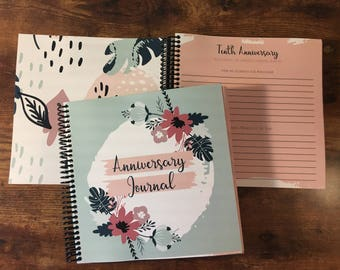 Anniversary Journal  - Spring Flowers - Custom Cover Available