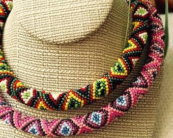 Ukrainian Ethnic jewelry.Multicolor unique ukrainian jewelry, ukrainian woman necklace. Traditional style.Best gift. Birthday gift.