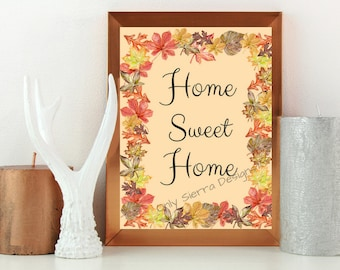 Quote Wall Art, Home Sweet Home, Printable Quote, Inspirational Quote, Motivational Quote, Office Quotes, Inspirational Poster