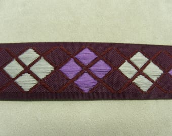 FANCY Ribbon - 4 cm - purple & Burgundy