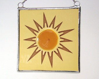 Sunburst Fused Glass Suncatcher Light Catcher Sun