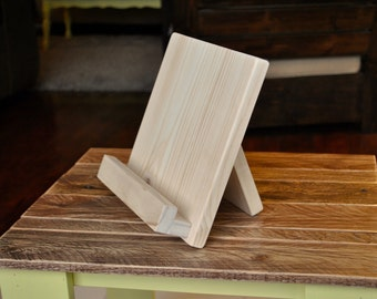 Wood Tablet or Cookbook Stand for the Kitchen or Office - Unfinished Wood - 3 SIZES AVAILABLE - iPad Stand