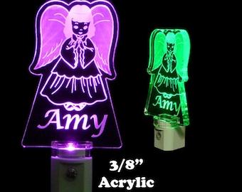 Personalized Angel LED Night Light, Kids Lamp