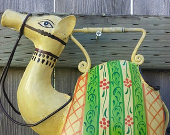 Cute Camel - Wind Chime upcycled from Watering Can