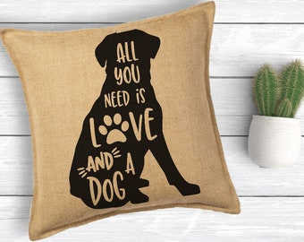All you need is, Love and a dog, Labrador Svg, Dog Svg, Paw Print, Dog Mom, Svg, Dxf, Png, Svg files for, Fur mom Svg, Silhouette, Cricut