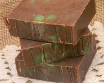 Cold Processed Irish Mocha Mint Goats Milk Soap, natural soap, handmade soap, handcrafted soap