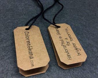 500 kraft printing hang tag, clothing tags, swing tags, custom hang tags, kraft hang tags