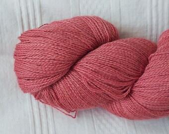 Begonia alpaca/silk laceweight yarn