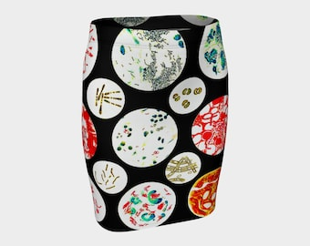 Petri Dish  Pencil Skirt   S-M-L-XL  Wearable Art/A-Line/Clothes/Clothing/Women/Skirts