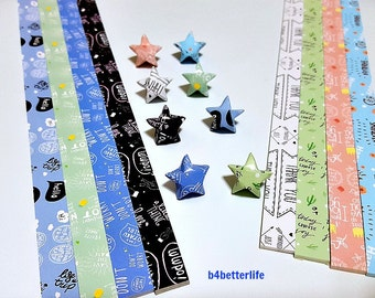 Pack of 220 strips of DIY Origami Lucky Stars Paper Folding Kit. 26cm x 1.2cm. (XT Paper Series). #HLX14.