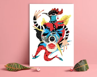 """Fine art signed print """"Disco girl"""", limited edition of 20"""