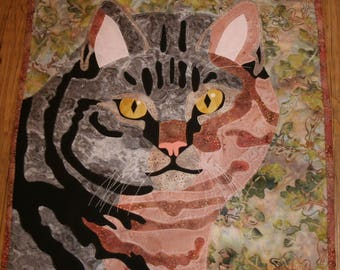 Gray Tabby Cat Kit for wall hanging