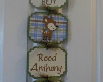 Baby Deer Hospital Banner- Baby Boy Shower Deer Theme - Deer Baby Boy Shower-