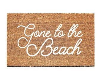 Beach Doormat -  Hello Mat - Welcome Mat - Cute Doormat - Hello Doormat - Doormats - Doormat Humor - Unique Doormat - Door Mat - Cute Rug