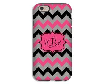 Chevron iPhone case, monogram iPhone X case, iPhone 8 Plus/7 Plus case, iPhone 8 case/7 case, iPhone 6s Plus case/6s case, 3D iPhone case