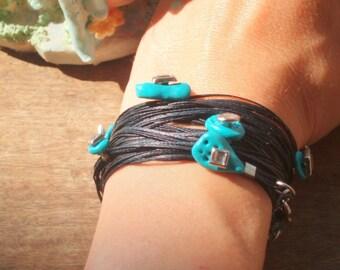 Hamsa Lucky charm bracelet cameo jewelry evil eye watcher by RedBracelet on Etsy