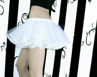 WHITE OUT Faerie TuTu adult ALL Sizes MTCoffinz