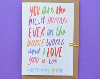 Plus belle amie humaine - carte anniversaire pour femme-