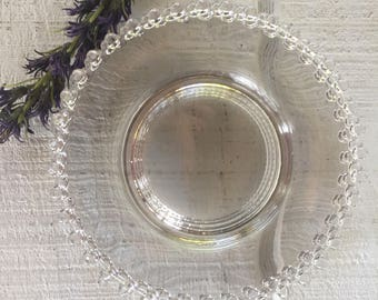Candlewick dessert plate Imperial Glass Candlewick Clear Plates vintage beaded cake plates crystal dessert salad plate plates replacements & Candlewick crystal   Etsy