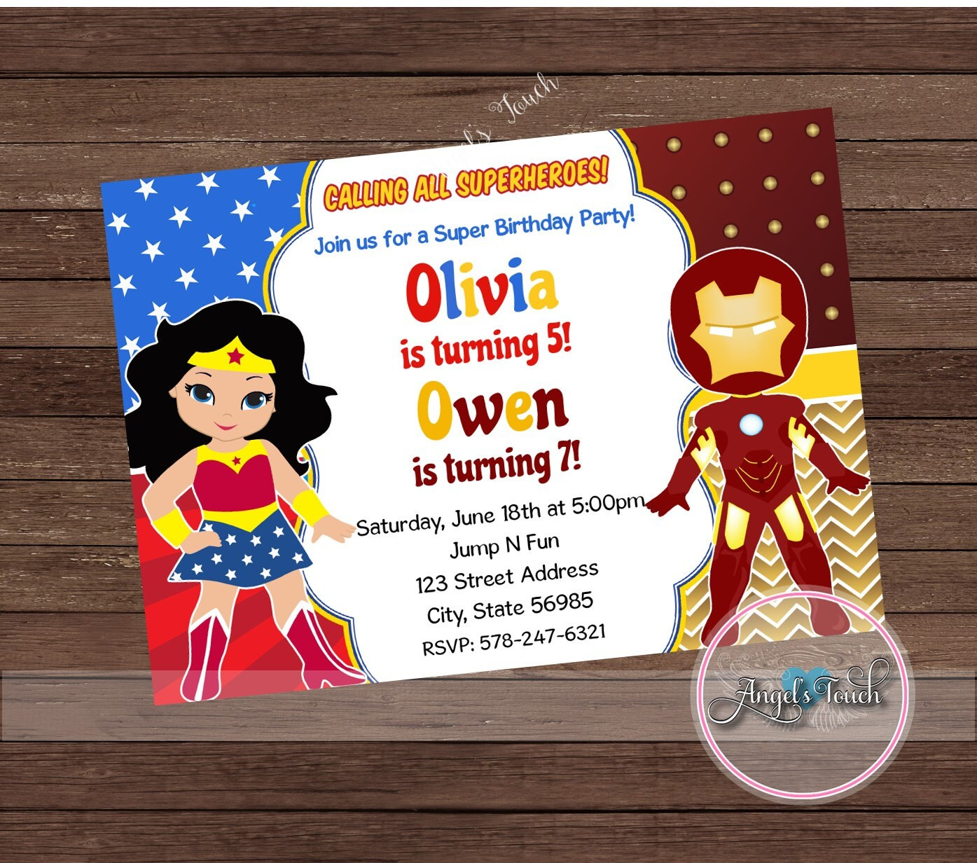 Wonder woman and spiderman party invitation wonder woman and spider 900 solutioingenieria Images