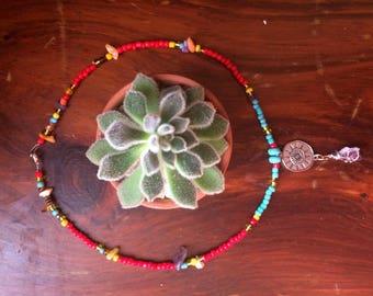 Amethyst Beaded Gemstone Necklace
