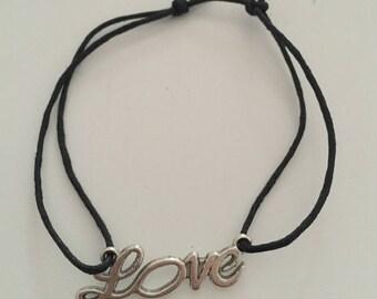 """Adjustable bracelet """"Love"""""""