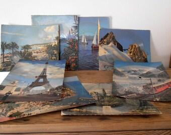 Retro music postcards 33 RPM