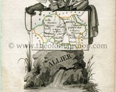 1823 Perrot Map of ALLIER...