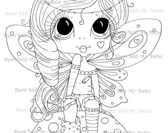 INSTANT DOWNLOAD Digital Digi Stamps Big Eye Big Head Dolls Digi  Besties IMG911 By Sherri Baldy