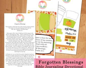 Forgotten Blessings Bible Journaling Devotional