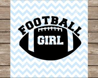 Football Girl svg, Football svg, Sports svg, svg, svg files, svg designs, svg files for cricut, svg silhouette, Football player cut file