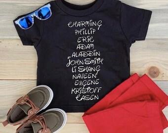 DISNEY PRINCE SHIRT, Toddler T-Shirt, Toddler Disney Shirt, Boy Disney T-Shirt