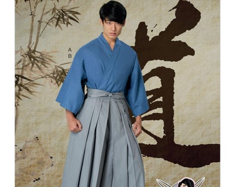 Sewing Pattern Mens Kimono & Pleated Pants, McCall's Pattern 7525, Halloween Costume, Cosplay, Yaya Han Design, Cosplay Kimono, Hakama Pants