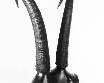 Matte Black #1 mixed media sculpture 2018