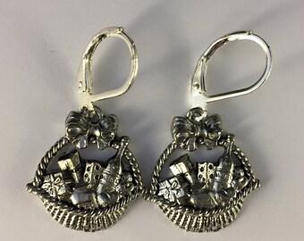 Purim Shalach Manas Earrings - Purim Jewelry - Mishloach Manot -  Purim Gift Basket - Pewter Purim Gifts of Food Earrings - Shalach Manot
