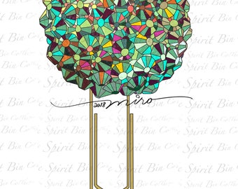 Cassiopeia crystal digital paperclip