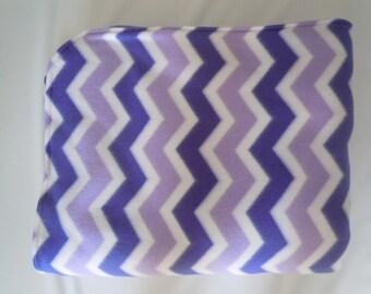Purple Chevron Fleece Blanket - Extra Large