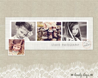 Facebook Timeline Template Design for Photographers INSTANT DOWNLOAD
