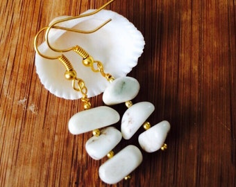 White Magnesite Earrings.