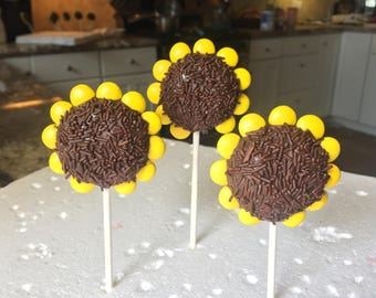 Sunflower Cake Pops