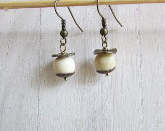 Ivory earrings